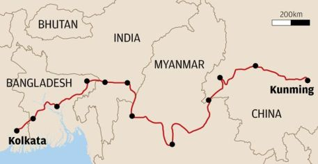 The BCIM Route Source:www.deccanchronicle.com
