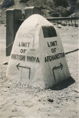 Indo-Afghan border mark during World War II