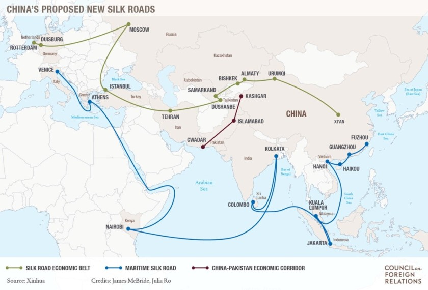 "China's One Belt One Road Initiative"": Analysis from an Indian Perspective  – NICKELED AND DIMED"
